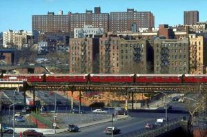 Sedgwick Houses from the #4 Mt. Eden Subway Station-The Bronx